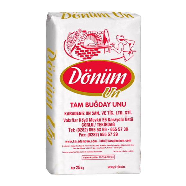 DÖNÜM FLOUR WHOLE WHEAT FLOUR 25KG